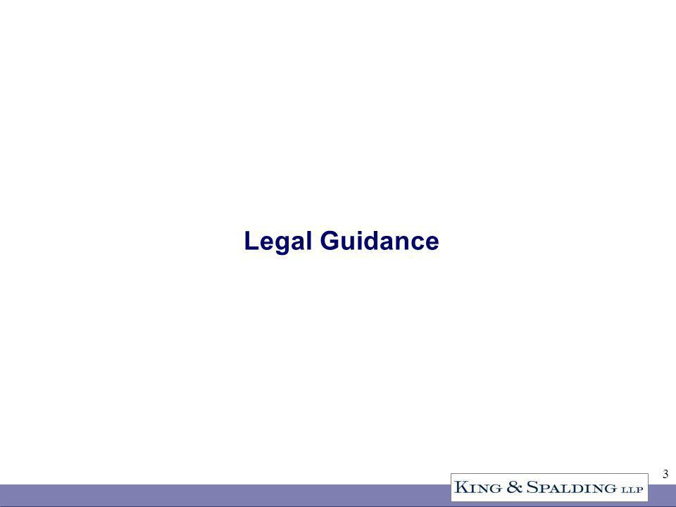 3 Legal Guidance