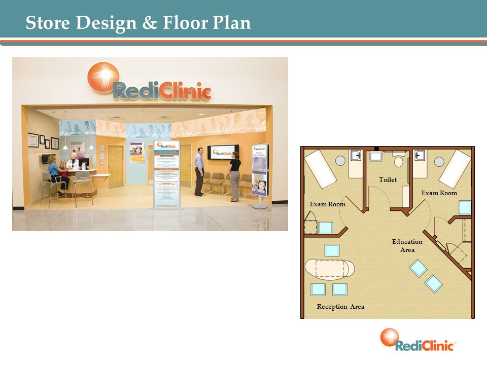 Store Design & Floor Plan Exam Room Toilet Education Area Reception Area