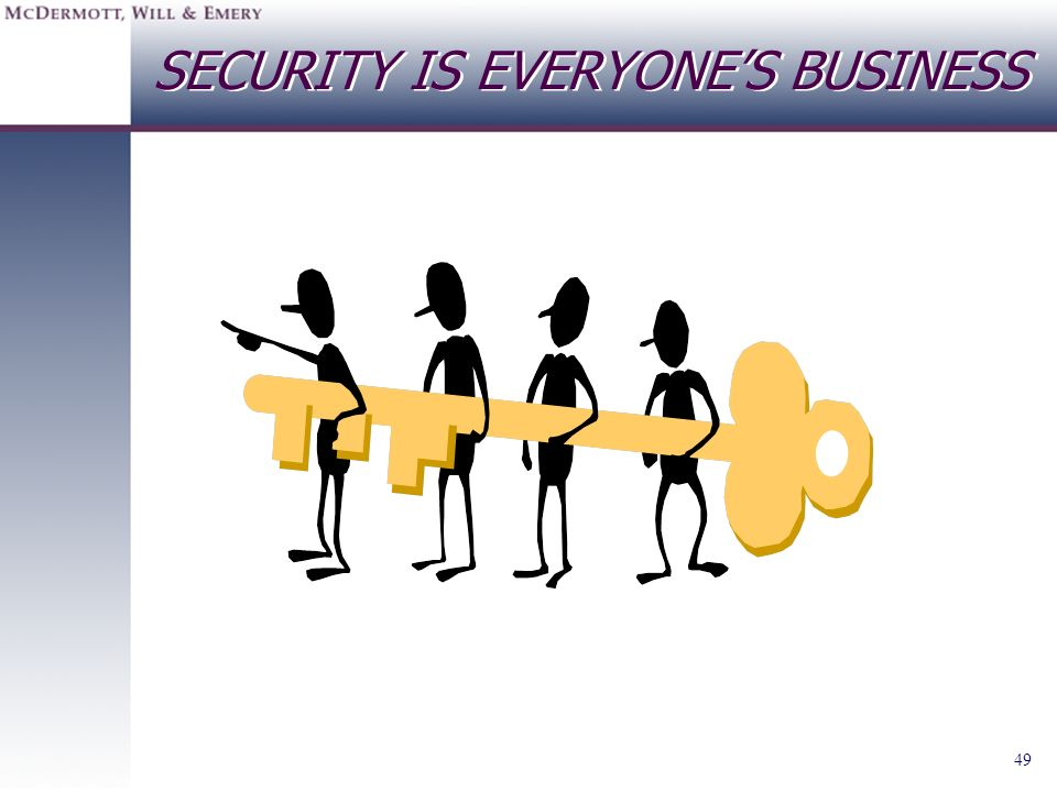 49 SECURITY IS EVERYONES BUSINESS