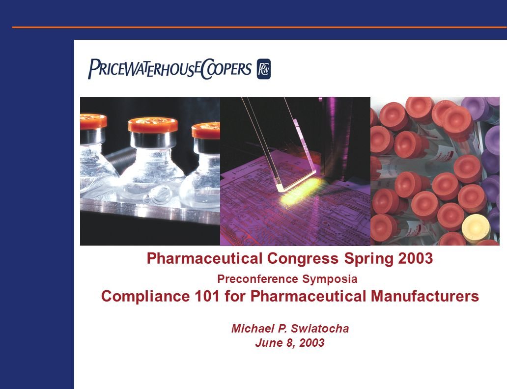 COMPLIANCE 101 – PHARMACEUTICAL MANUFACTURERS Case Example for Risk Assessment Areas to Consider for Review (Continued) –Opinion leader, thought leader and consulting agreements –Advisory Boards –Financial/non-financial support for patient advocacy groups –Product websites and chat rooms –US prescriber access to non-US product websites with additional indications for use Off-Label Sales and Marketing Activity