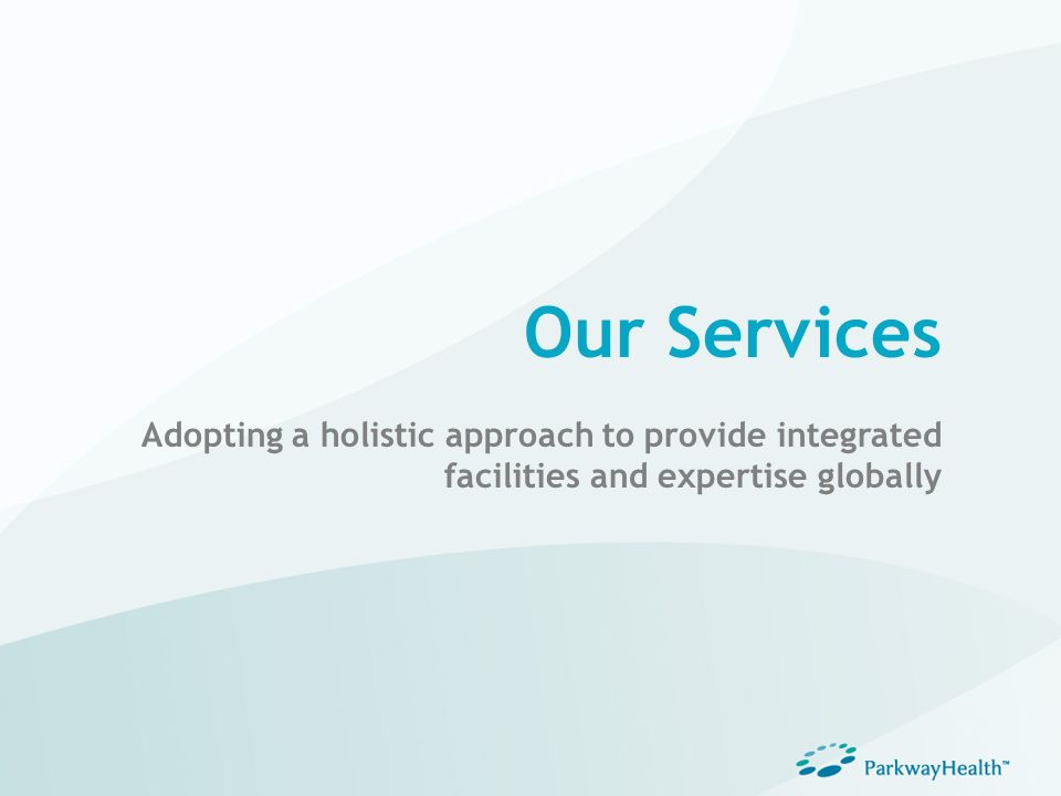 Our Services Adopting a holistic approach to provide integrated facilities and expertise globally