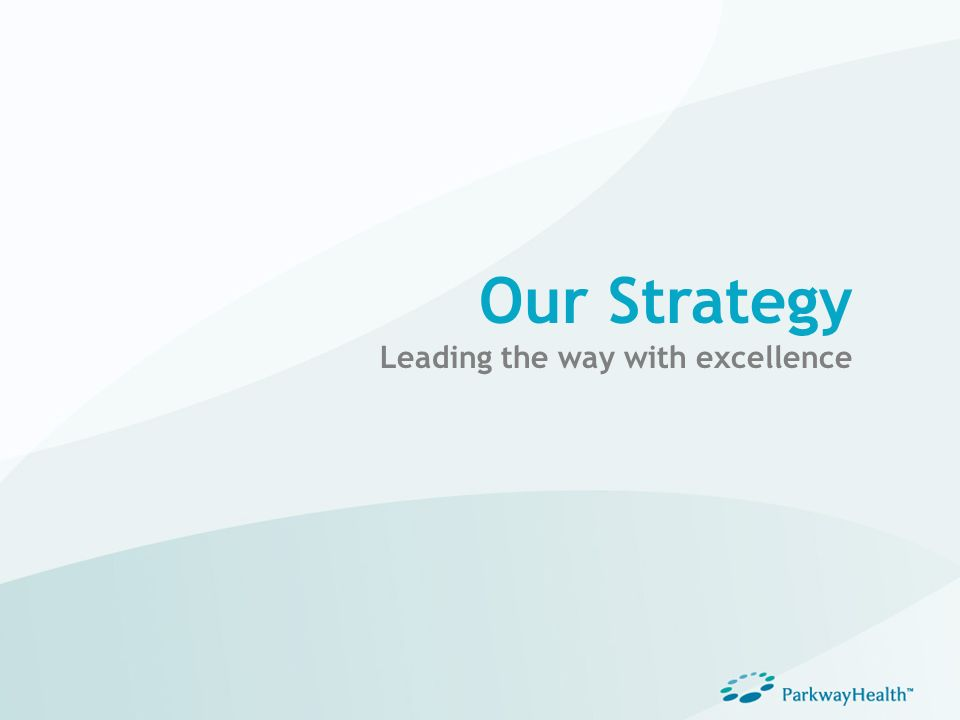 Our Strategy Leading the way with excellence