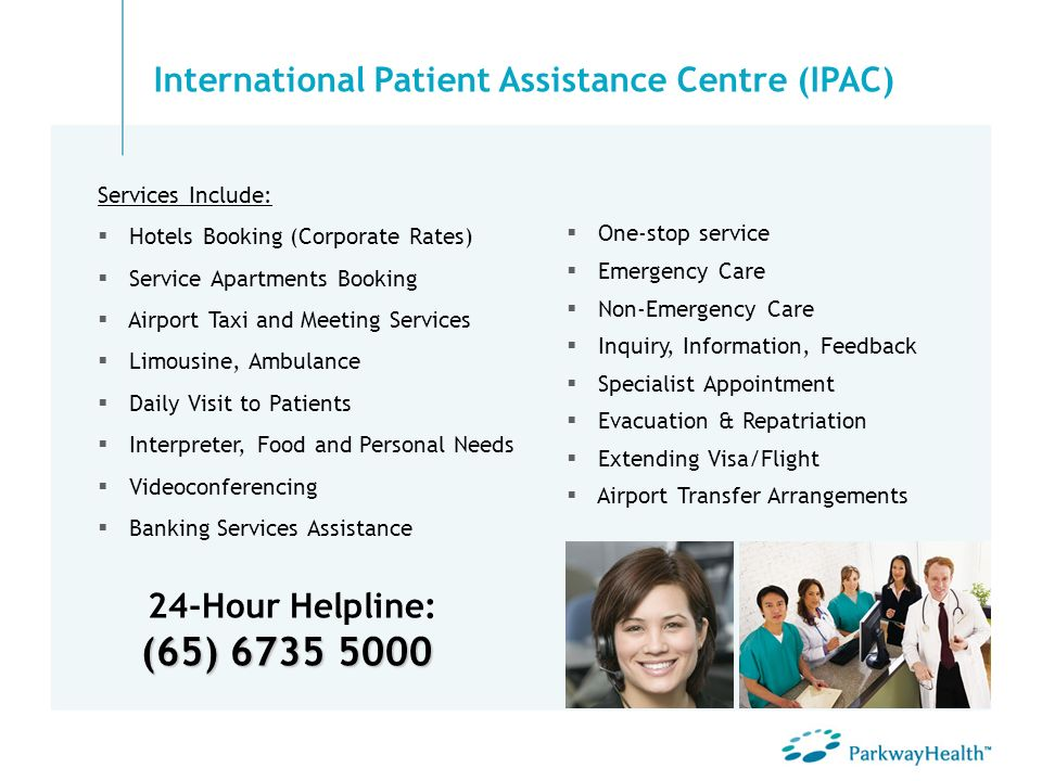 (65) 6735 5000 24-Hour Helpline: (65) 6735 5000 One-stop service Emergency Care Non-Emergency Care Inquiry, Information, Feedback Specialist Appointme