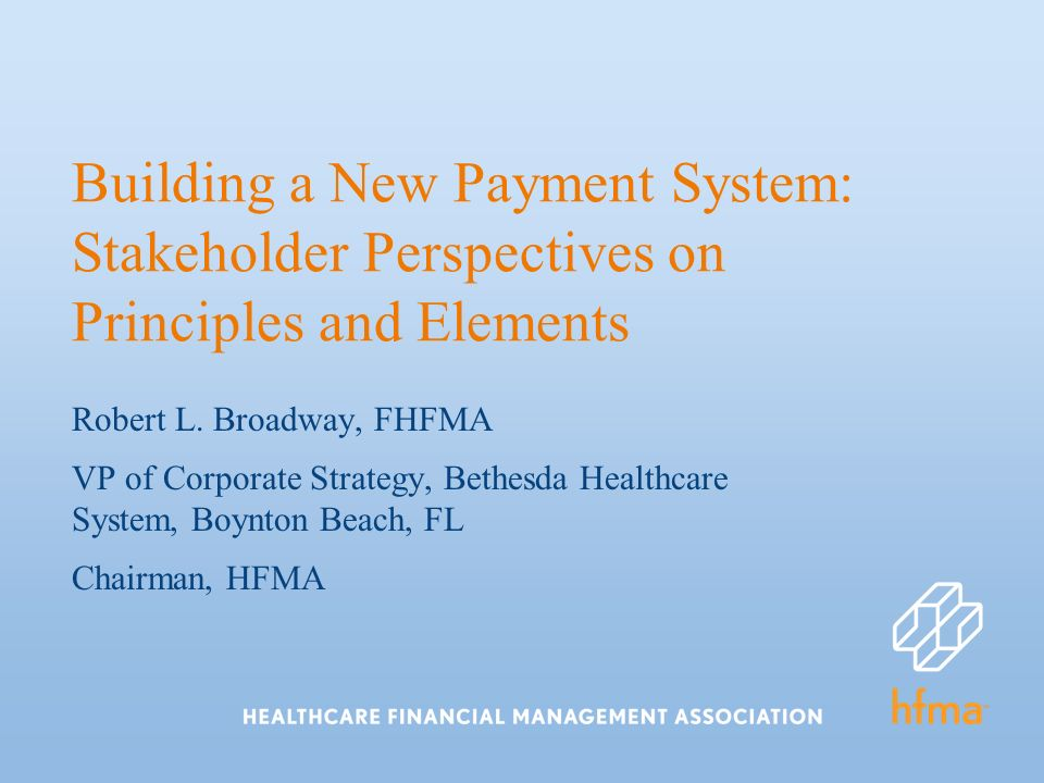 Building a New Payment System: Stakeholder Perspectives on Principles and Elements Robert L.