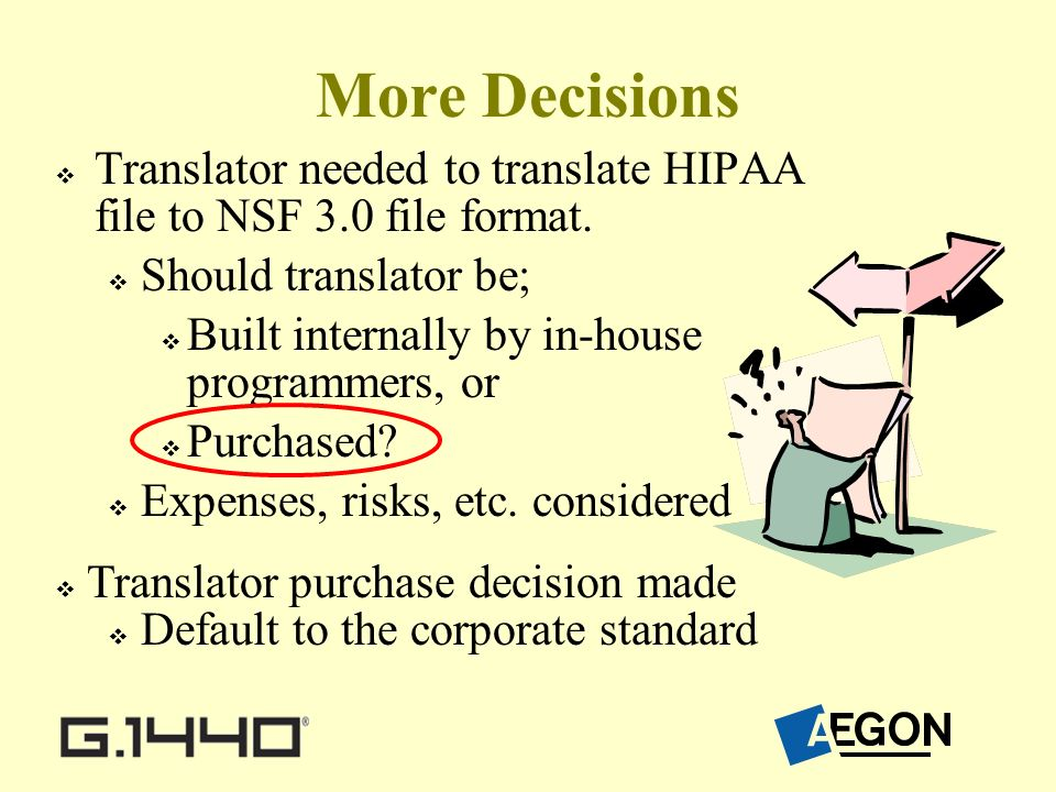 More Decisions Translator needed to translate HIPAA file to NSF 3.0 file format.