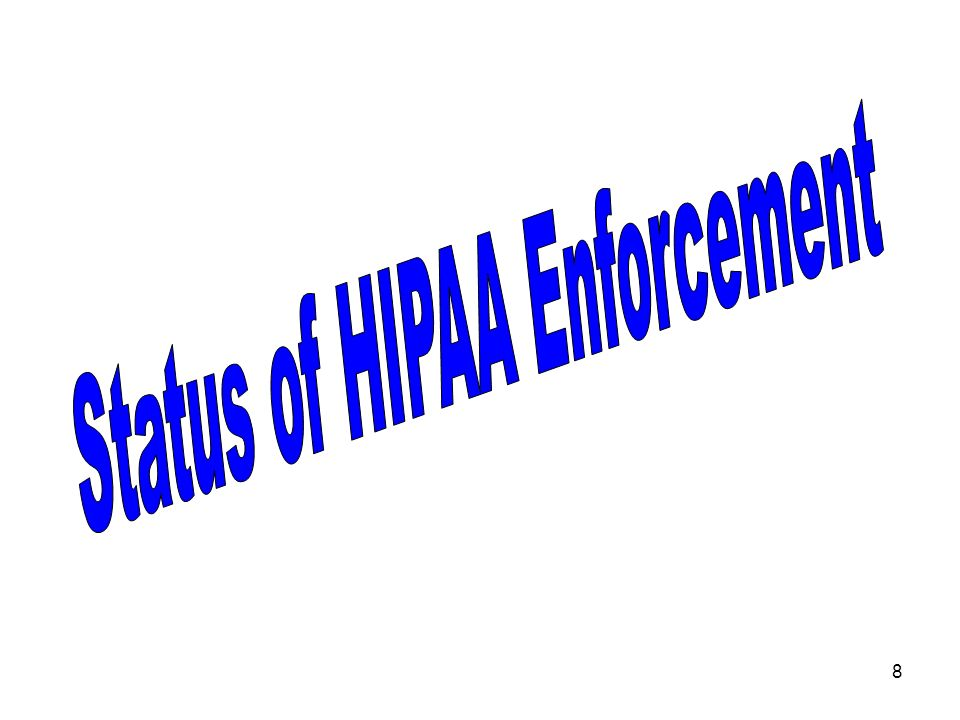 9 HIPAA Privacy Enforcement Stats As of February 28, 2007: 25,662 Privacy complaints to OCR –second highest consistently is for lack of adequate safeguards for PHI ~ security –approximately 600/month –77% closed with no fines imposed for noncompliance –373 cases referred to DOJ for possible criminal prosecution (approx.10/month)no criminal prosecutions reported Statistics courtesy of Melamedia, LLC