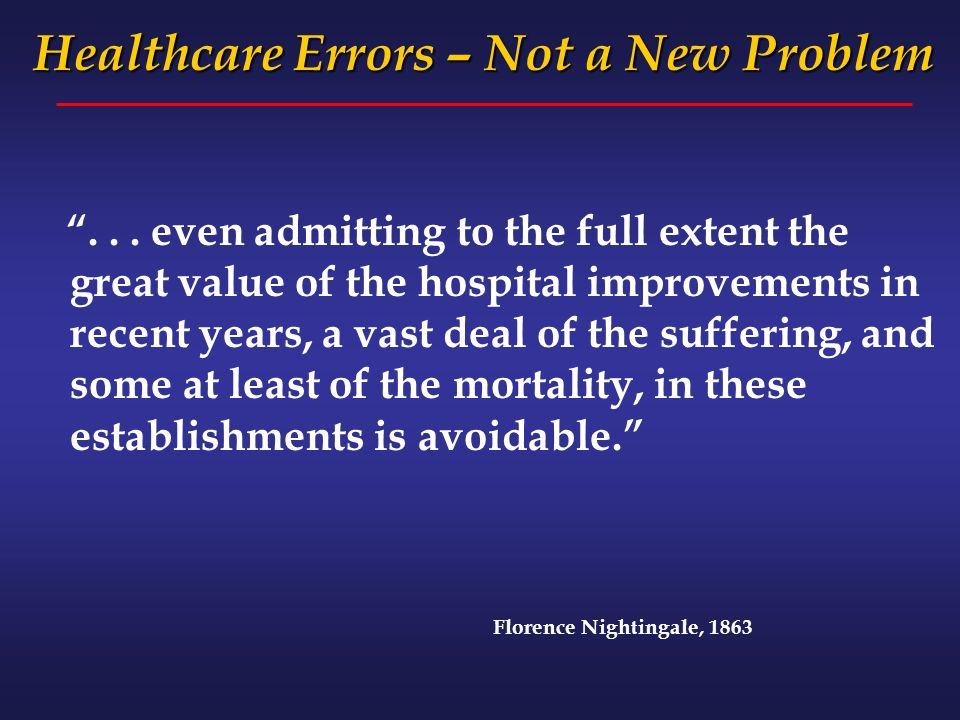 ... even admitting to the full extent the great value of the hospital improvements in recent years, a vast deal of the suffering, and some at least of