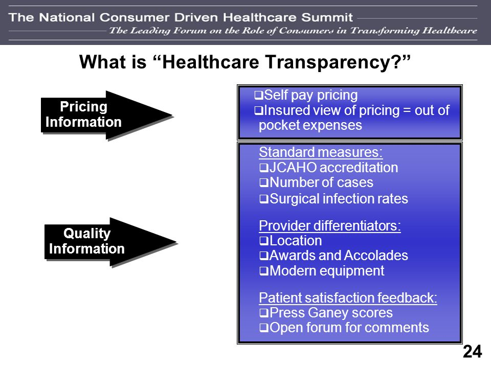 23 Transparency The Provider Perspective