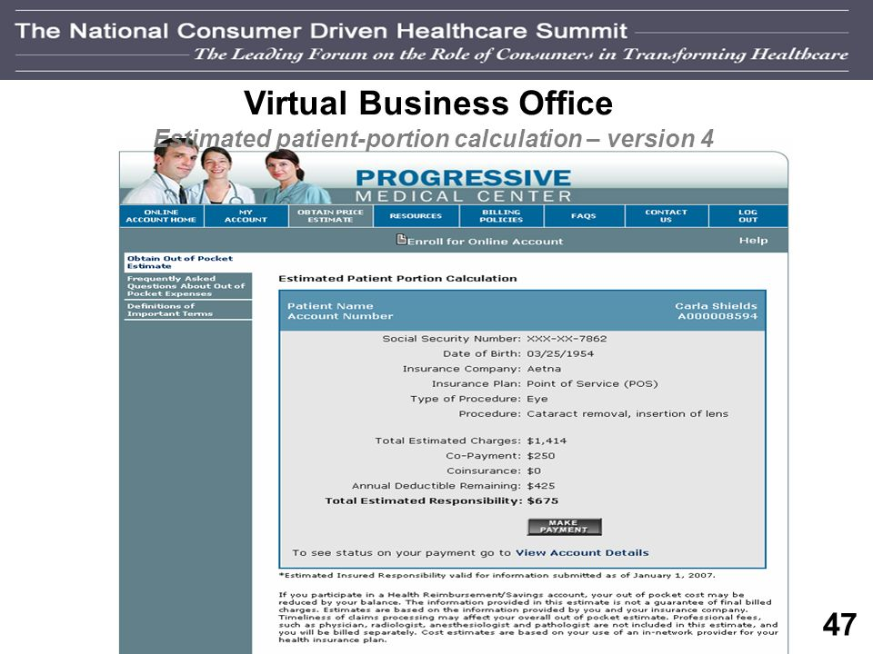 46 Virtual Business Office Estimated patient-portion calculation – version 3