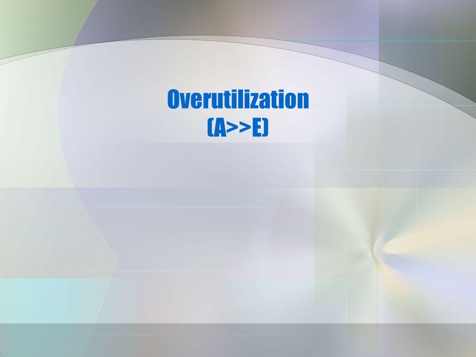 Overutilization (A>>E)