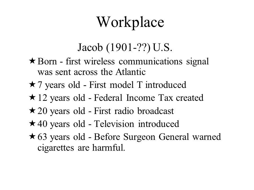 Workplace Jacob (1901- ) U.S.