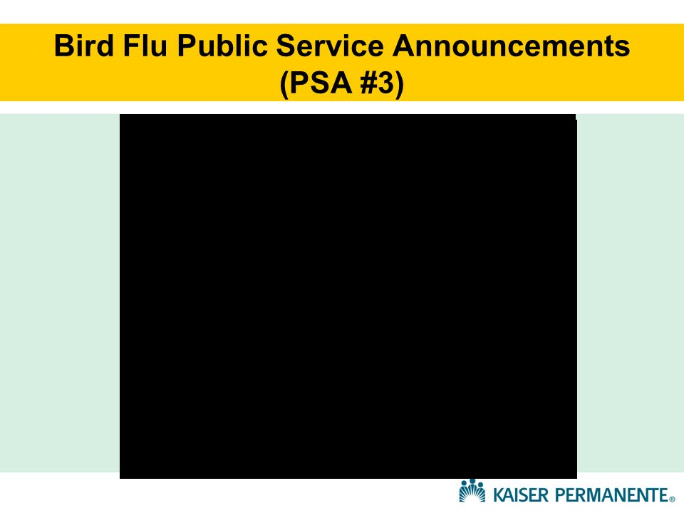 Bird Flu Public Service Announcements (PSA #3)
