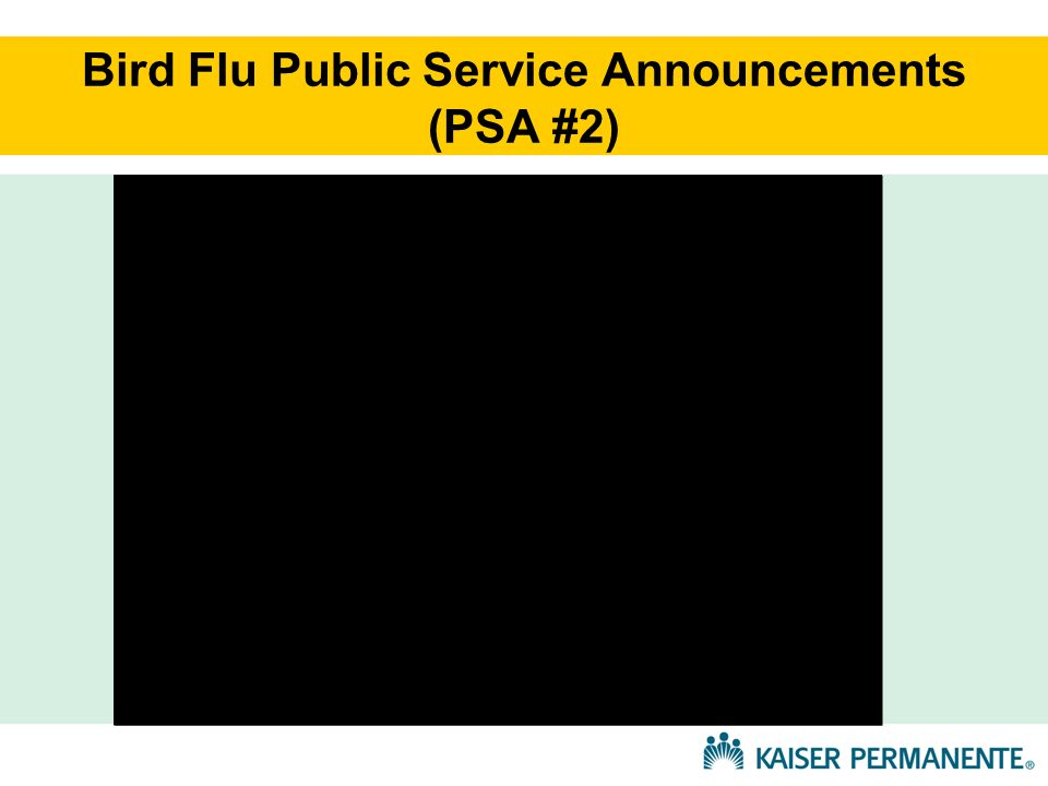 Bird Flu Public Service Announcements (PSA #2)