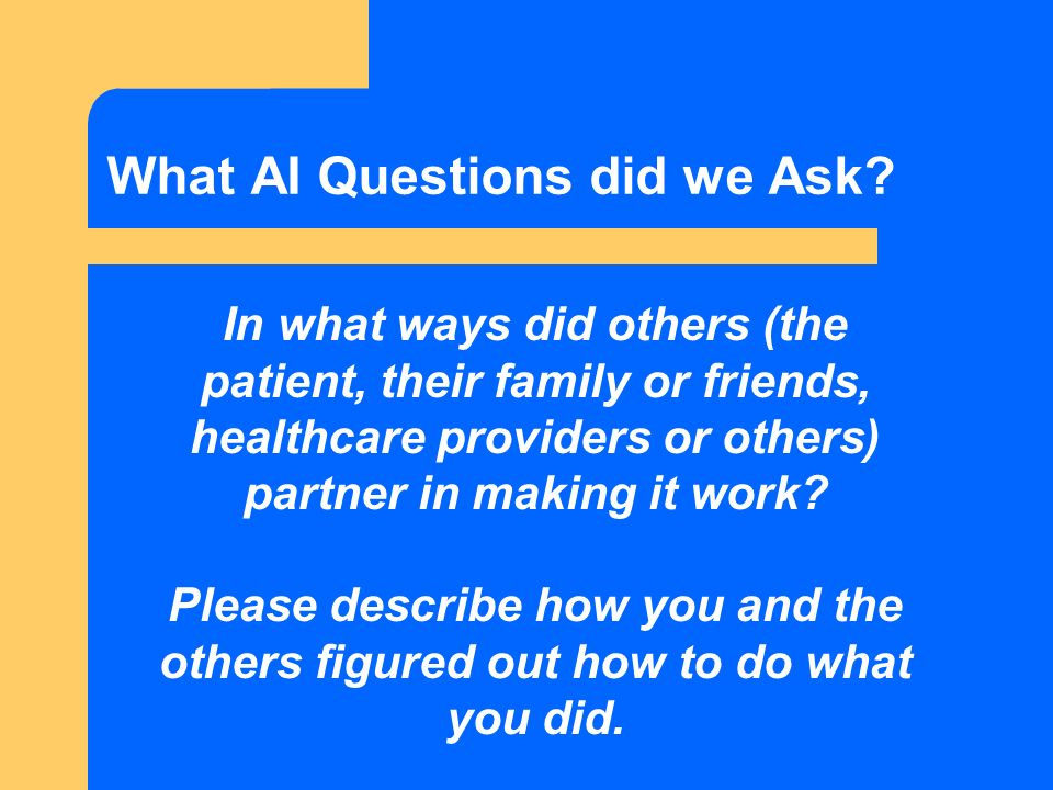 What AI Questions did we Ask.