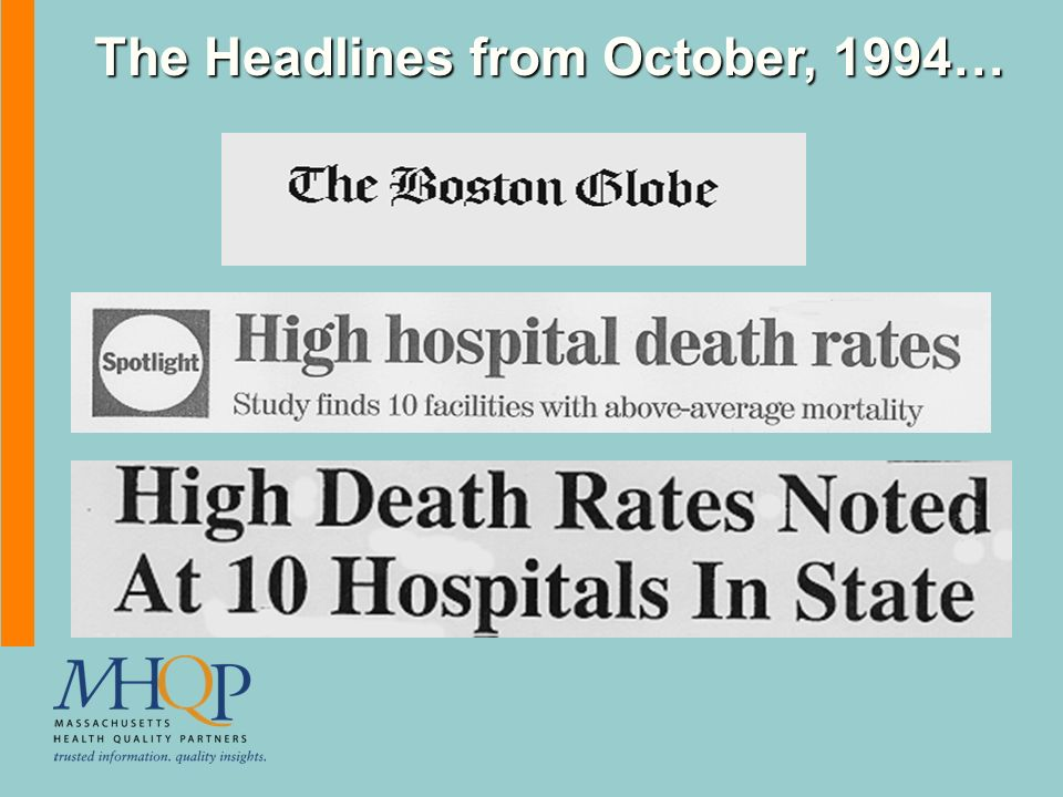 The Headlines from October, 1994…