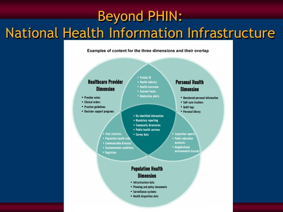 Beyond PHIN: National Health Information Infrastructure