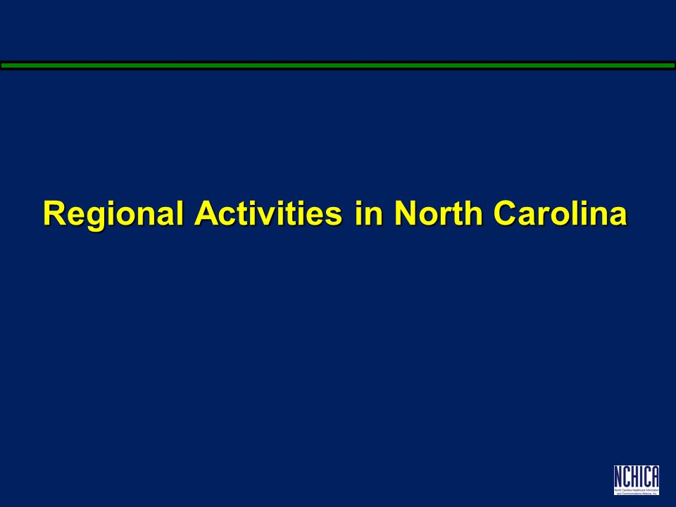 Regional Activities in North Carolina