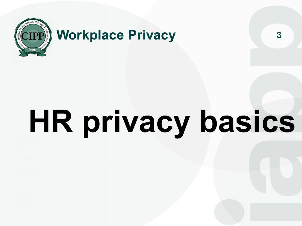 3 HR privacy basics Workplace Privacy