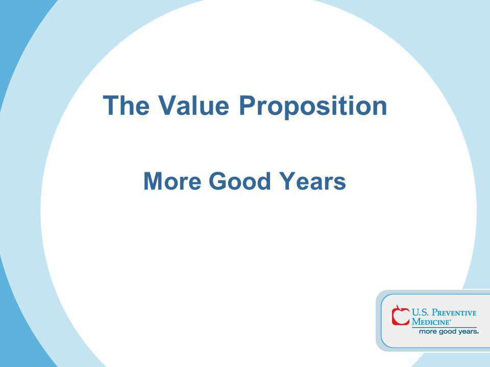 The Value Proposition More Good Years