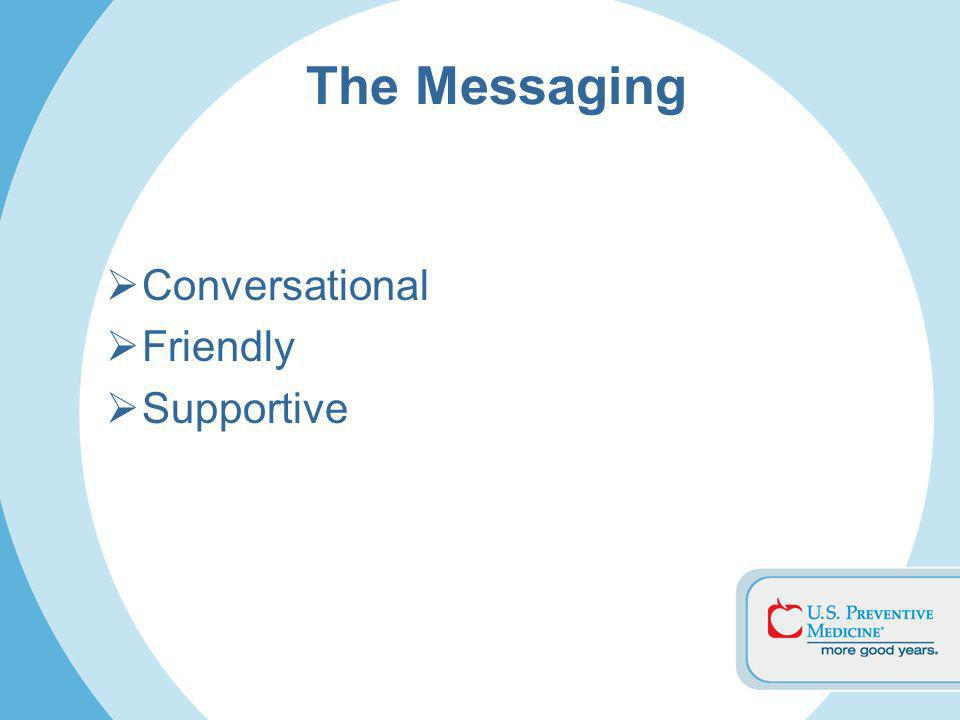 The Messaging Conversational Friendly Supportive