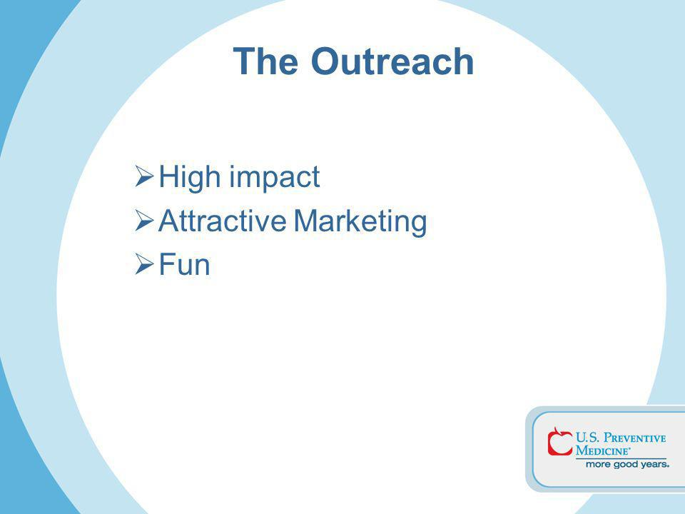 The Outreach High impact Attractive Marketing Fun