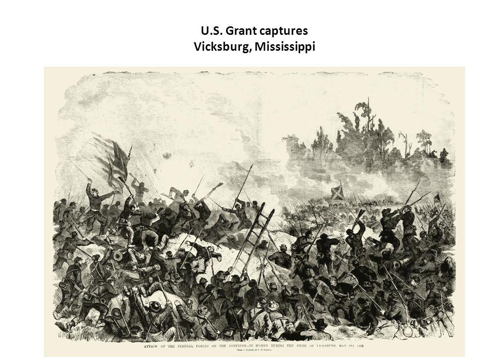 U.S. Grant captures Vicksburg, Mississippi