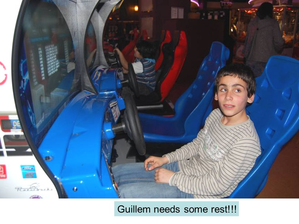 Guillem needs some rest!!!