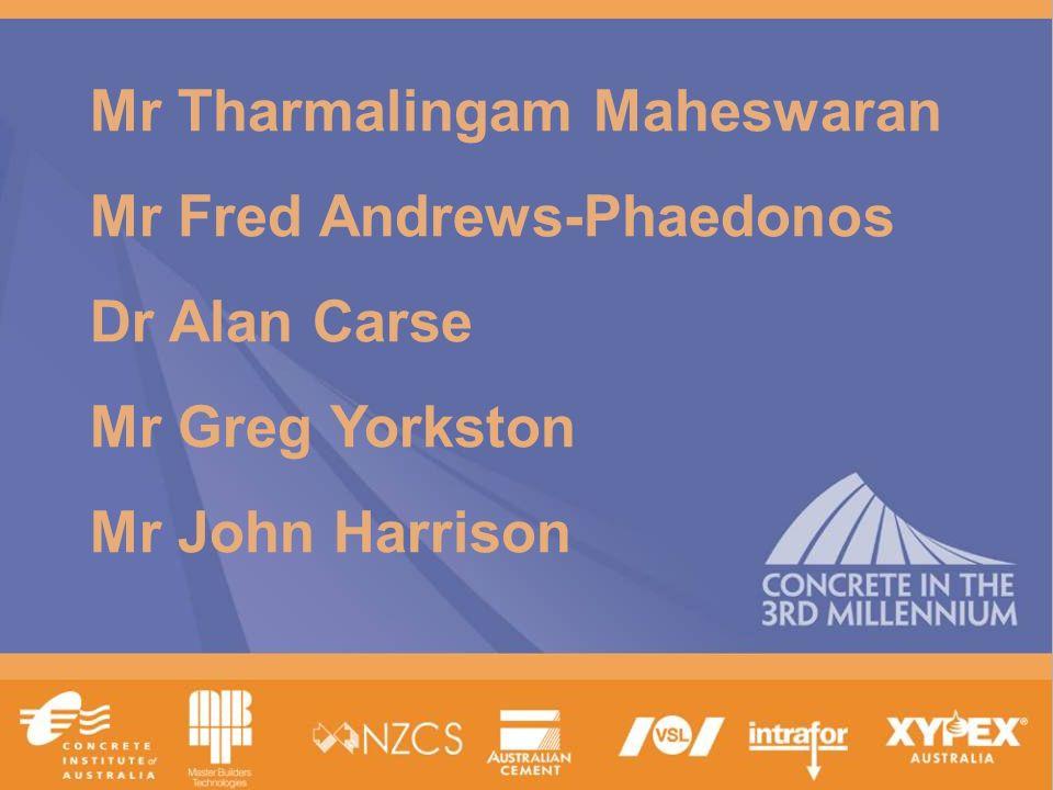 www.tececo.com 1 Mr Tharmalingam Maheswaran Mr Fred Andrews-Phaedonos Dr Alan Carse Mr Greg Yorkston Mr John Harrison