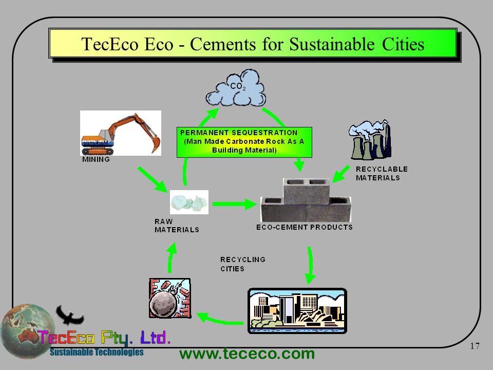 www.tececo.com 17 TecEco Eco - Cements for Sustainable Cities