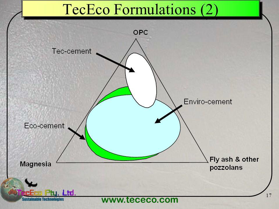 www.tececo.com 17 TecEco Formulations (2)