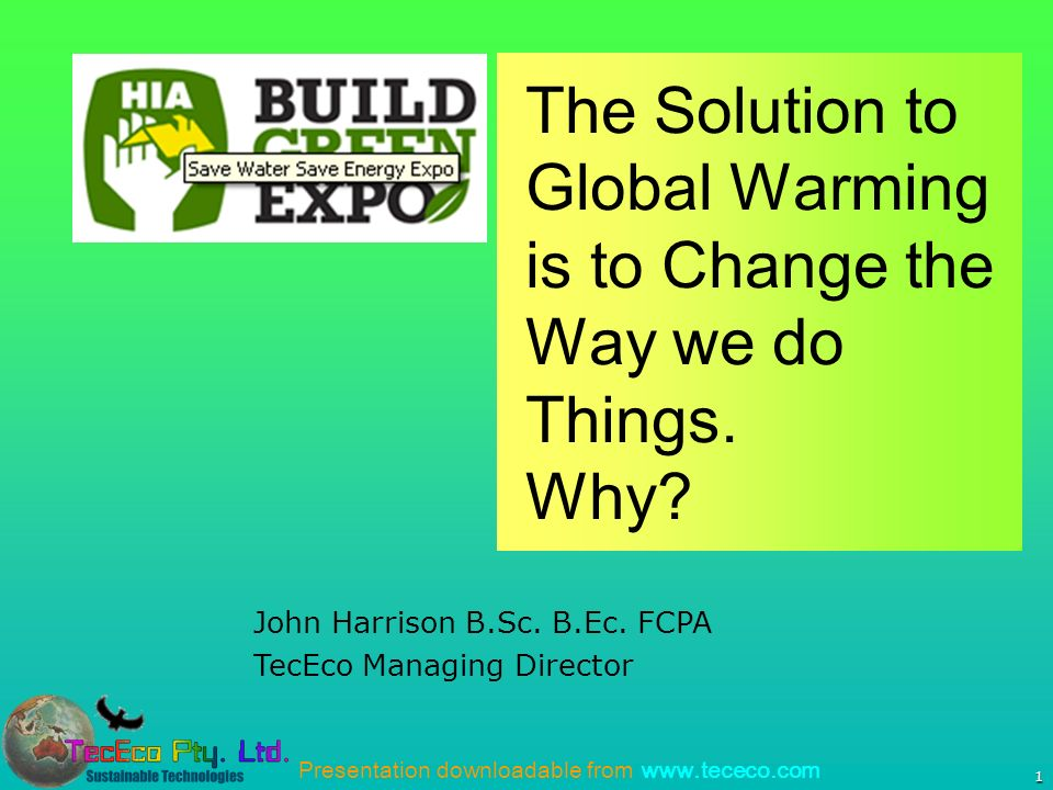 Presentation downloadable from   1 John Harrison B.Sc.
