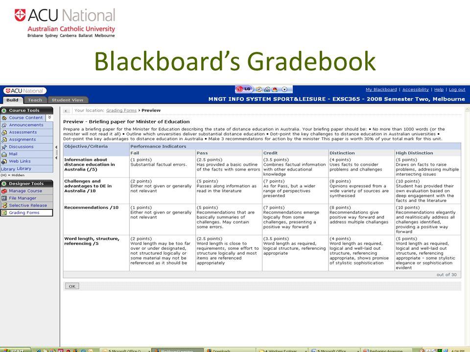 Blackboards Gradebook