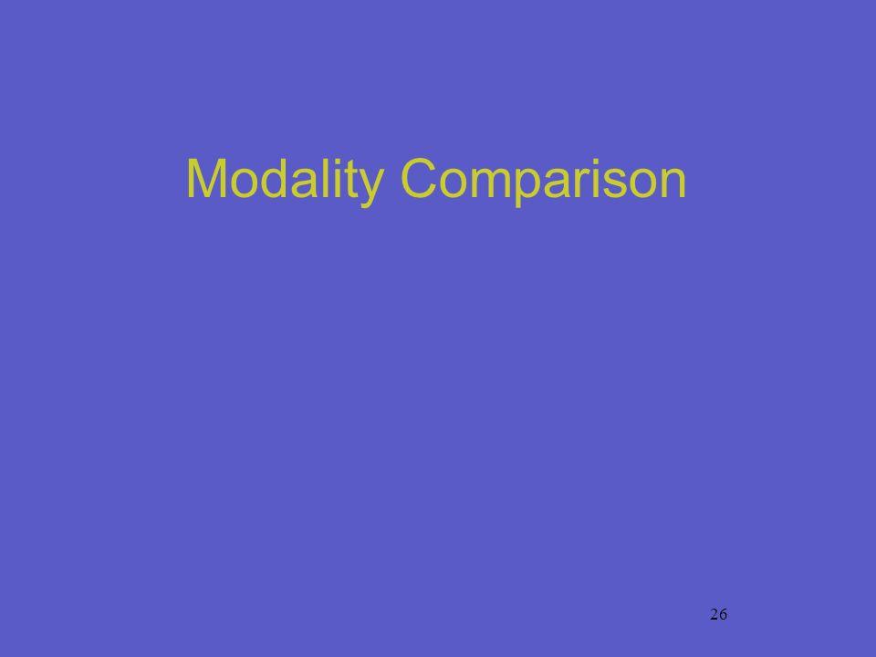 26 Modality Comparison
