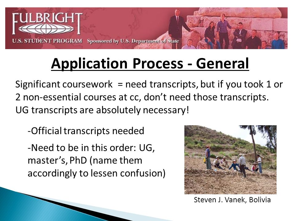 Application Process - General Significant coursework = need transcripts, but if you took 1 or 2 non-essential courses at cc, dont need those transcripts.