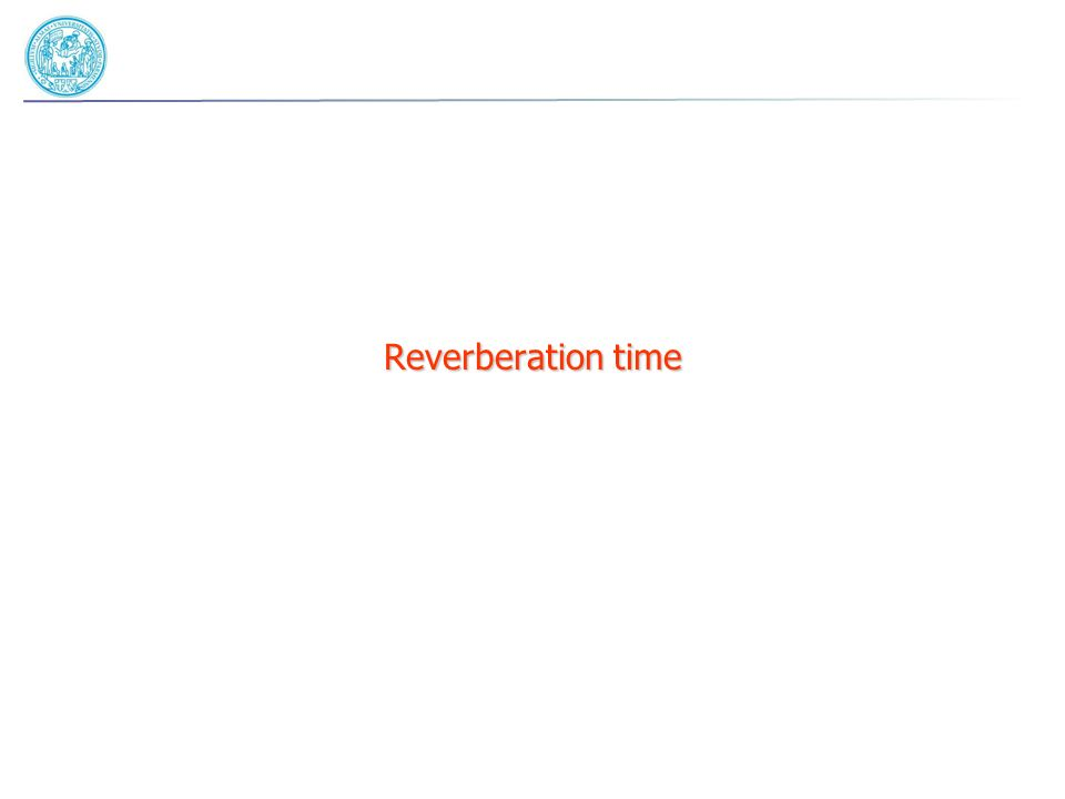 Reverberation time