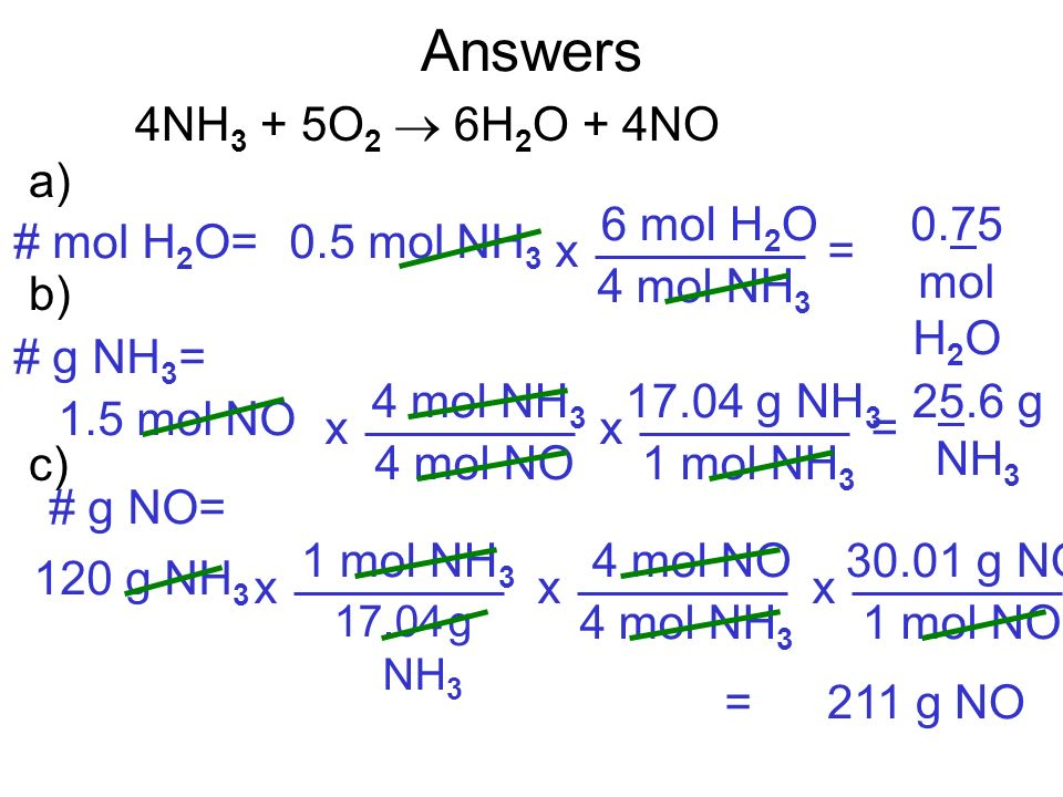 More Stoichiometry Questions Follow the rules for significant digits.