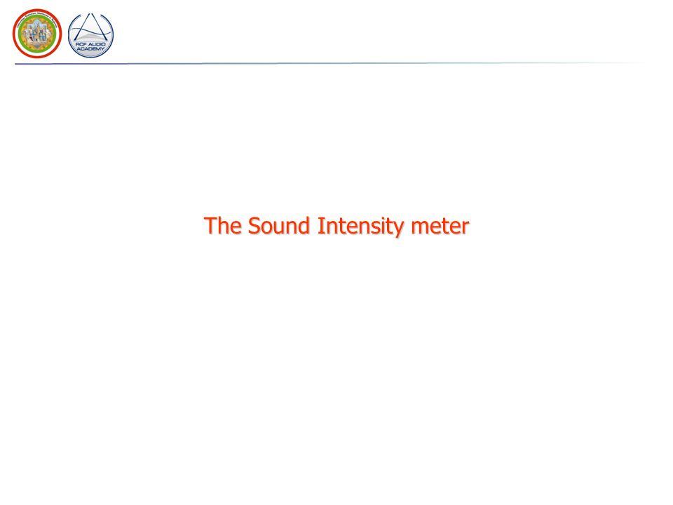 The Sound Intensity meter