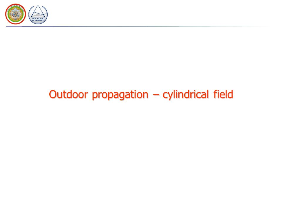 Outdoor propagation – cylindrical field