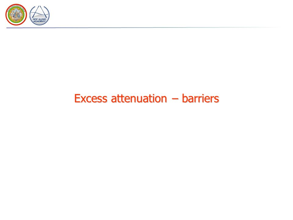 Excess attenuation – barriers
