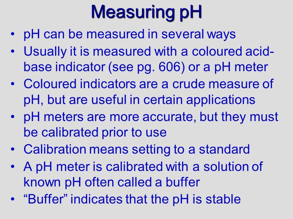 PE 3, 4 answers d)[H + ] = 10 –pH = 10 –4.11 = 7.76 x 10 –5 mol/L pOH = 14 – pH = 14.00 – 4.11 = 9.89 [OH – ] = 10 –pOH = 10 –9.89 = 1.29 x 10 –10 mol