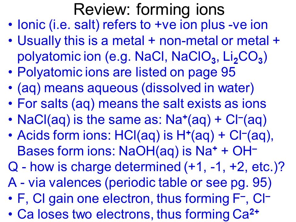 Net ionic equations Na + Al 3+ S 2– 2Ca 2+ PO 4 3– 3Cl –