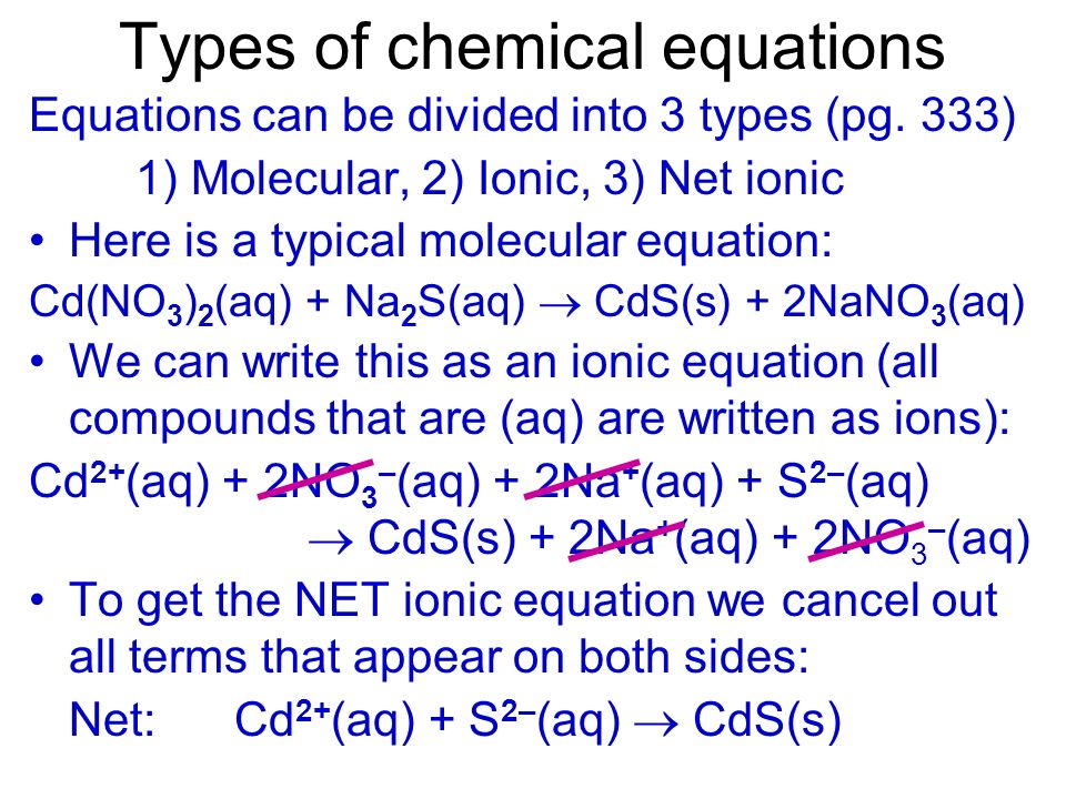 Practice with writing ions Q - Write ions for Na 2 CO 3 (aq) A - 2Na + (aq) + CO 3 2– (aq) (from the PT Na is 1+. There are 2, thus we have 2Na +. The
