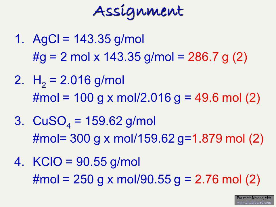 Assignment 2.246332147.8CoCl 2.H 2 O 3.21196.8374.1Mg(IO 3 ) 2 0.817100122.4NaClO 4 0.2580.9323.6Sb 2 O 5 0.33250150.7SnO 2 2192.296.1(NH 4 ) 2 CO 3 3