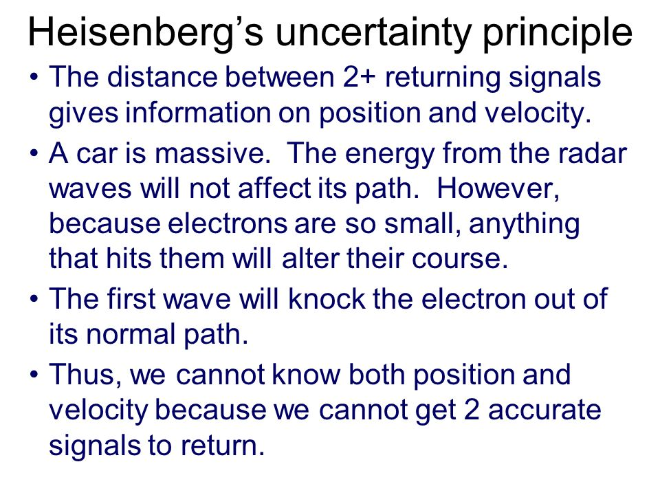 Heisenbergs uncertainty principle Electrons are difficult to visualize. As a simplification we will picture them as tiny wave/particles around a nucle