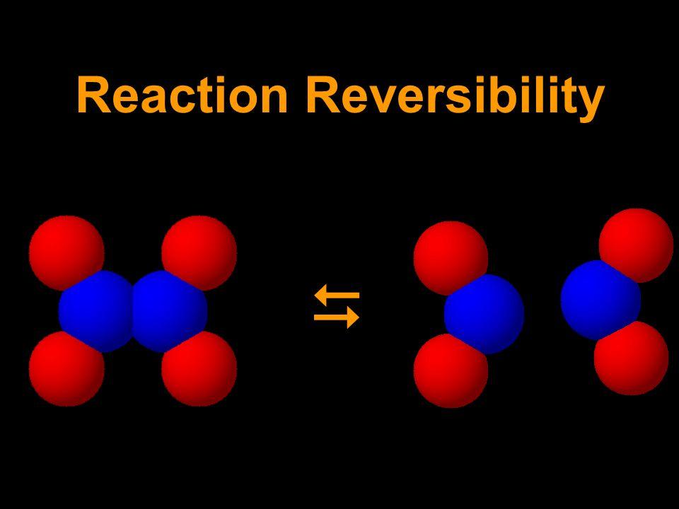 Reaction Reversibility