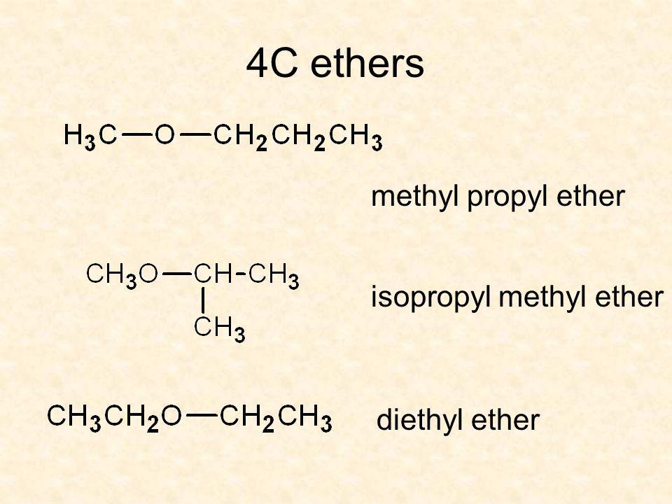 4C ethers methyl propyl ether diethyl ether isopropyl methyl ether