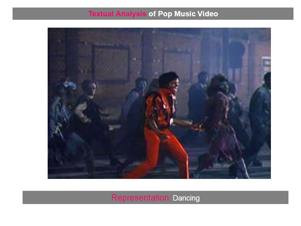 Representation: Dancing Textual Analysis of Pop Music Video