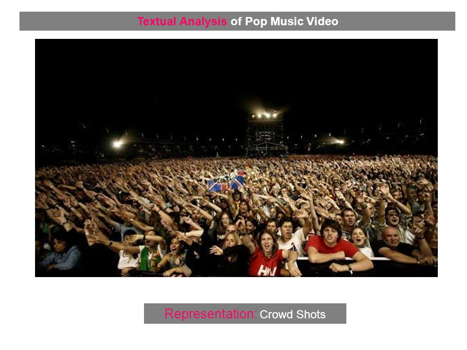 Representation: Crowd Shots Textual Analysis of Pop Music Video