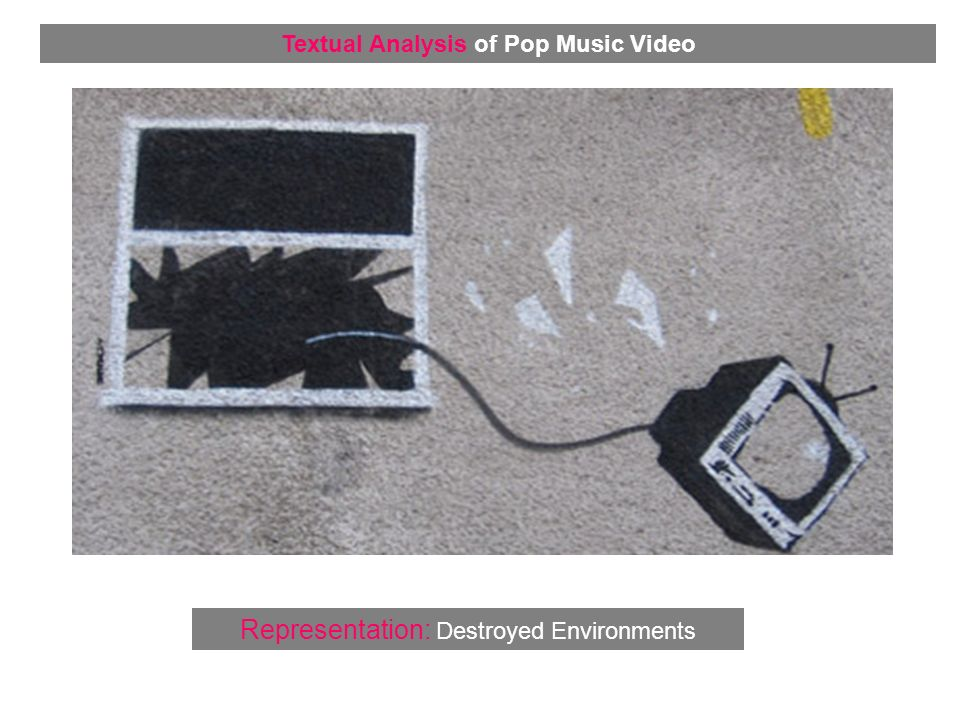 Representation: Destroyed Environments Textual Analysis of Pop Music Video
