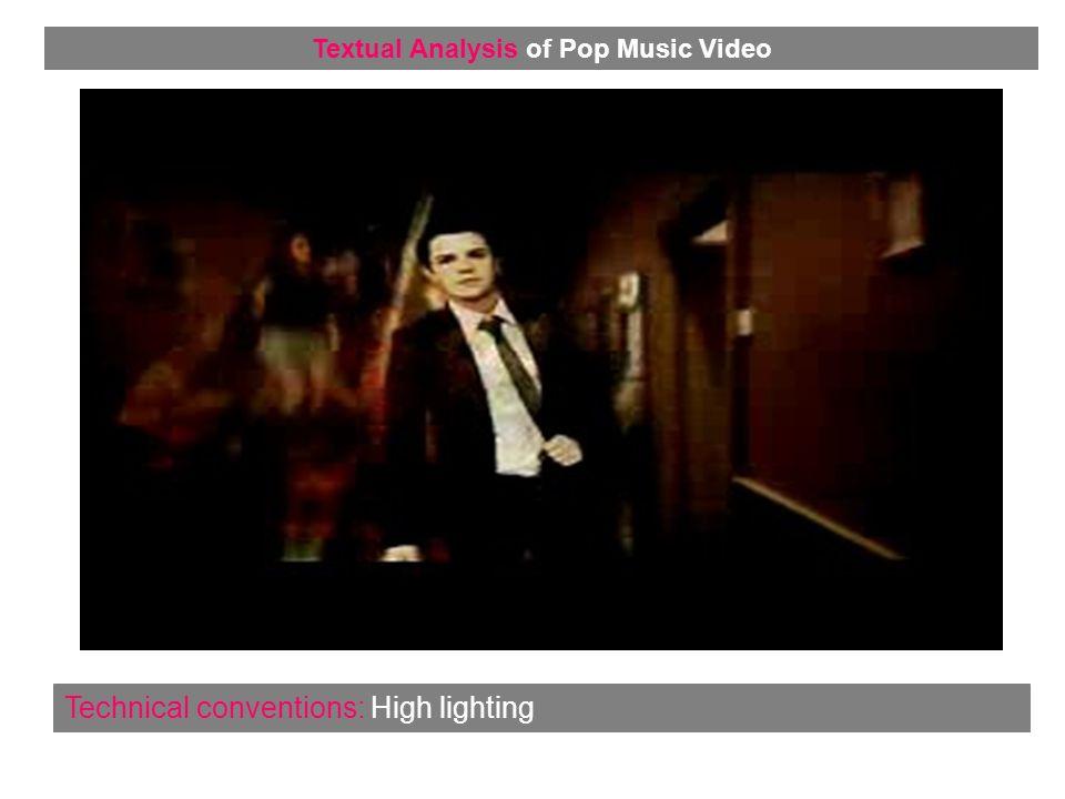 Representation: Dancing Textual Analysis of Pop Music Video